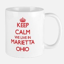 Keep calm we live in Marietta Ohio Mugs