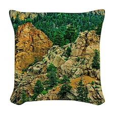 Colorado Seven Falls Woven Throw Pillow