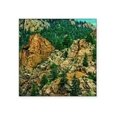 "Colorado Seven Falls Square Sticker 3"" x 3"""