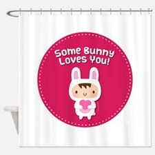 Cute Happy bunny day Shower Curtain