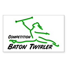 Cometition Baton Twirler Rectangle Decal