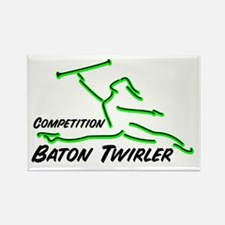 Cometition Baton Twirler Rectangle Magnet (10 pack