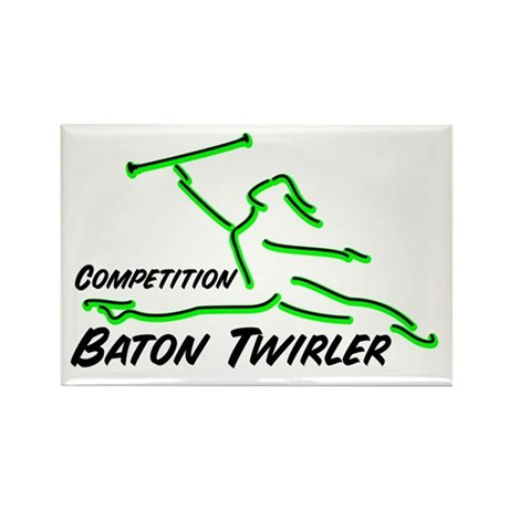Cometition Baton Twirler Rectangle Magnet