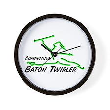 Cometition Baton Twirler Wall Clock
