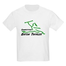 Cometition Baton Twirler Kids T-Shirt