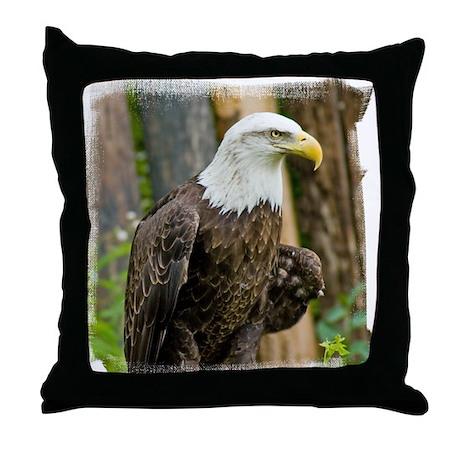 Bald Eagle Looking Throw Pillow