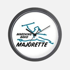 MARCHING BAND MAJORETTE Wall Clock