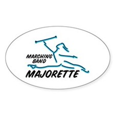 MARCHING BAND MAJORETTE Oval Decal