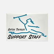 BATON TWIRLER SUPPORT STAFF Rectangle Magnet