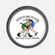 WRESTLING IS LIFE Wall Clock