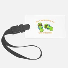 GREEN FLIP FLOPS Luggage Tag