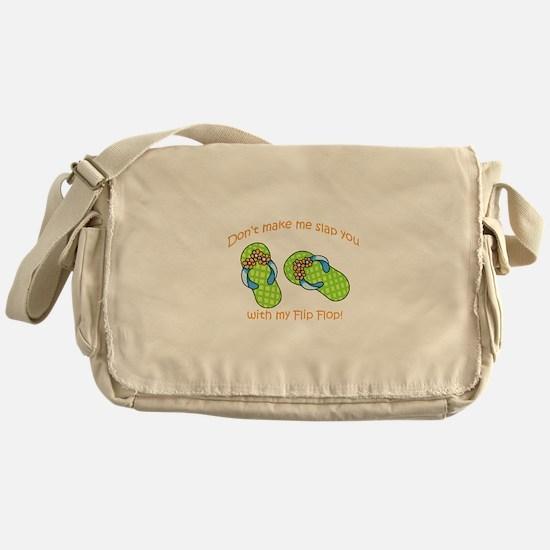 GREEN FLIP FLOPS Messenger Bag