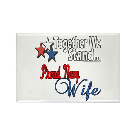 Proud Navy Wife Rectangle Magnet (100 pack)