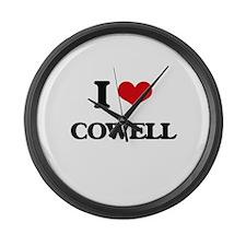 I Love Cowell Large Wall Clock