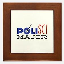 Political Science Major Framed Tile
