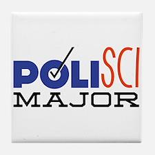 Political Science Major Tile Coaster
