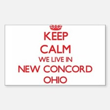 Keep calm we live in New Concord Ohio Decal