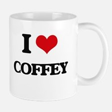 I Love Coffey Mugs