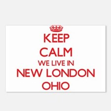Keep calm we live in New Postcards (Package of 8)