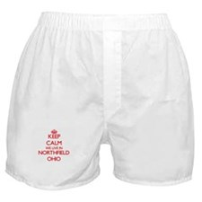 Keep calm we live in Northfield Ohio Boxer Shorts
