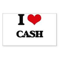 I Love Cash Decal