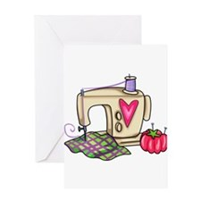 SEWING MACHINE Greeting Cards