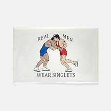 REAL MEN WEAR SINGLETS Magnets