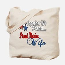 Proud Marine Wife Tote Bag