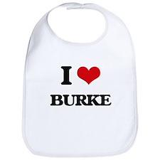 I Love Burke Bib