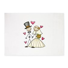 BRIDE AND GROOM 5'x7'Area Rug