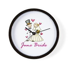 June Bride Wall Clock