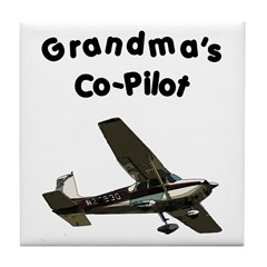 Grandma's copilot Tile Coaster