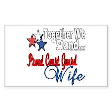 Proud Coast Guard Wife Rectangle Decal