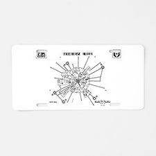 Space: 1999 - Moonbase Alph Aluminum License Plate