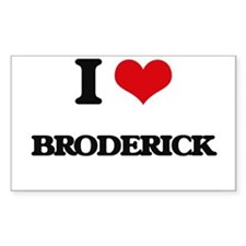 I Love Broderick Decal