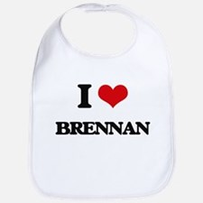 I Love Brennan Bib