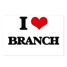 I Love Branch Postcards (Package of 8)