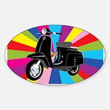 Retro Moped Rainbow Decal
