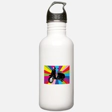 Retro Moped Rainbow Water Bottle