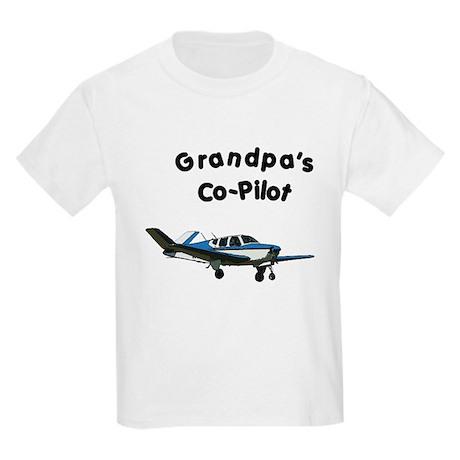Grandpa's copilot Kids Light T-Shirt