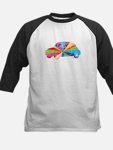 Retro Car Rainbow Baseball Jersey
