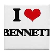 I Love Bennett Tile Coaster