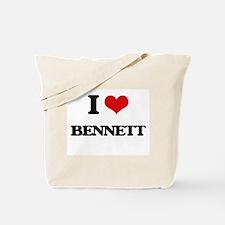 I Love Bennett Tote Bag