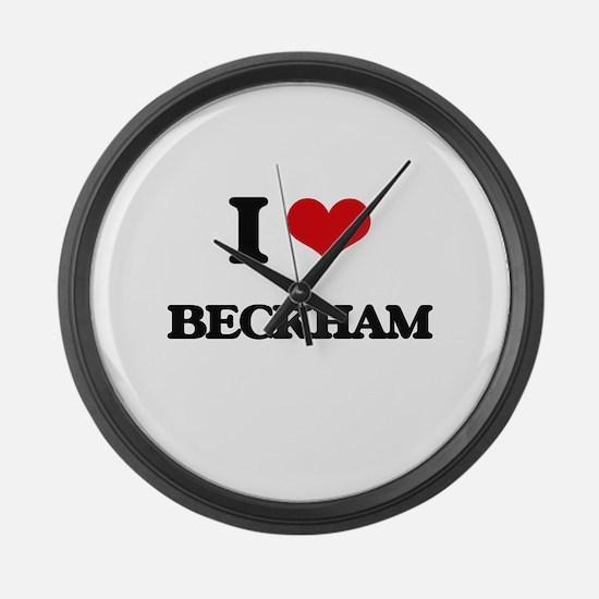 I Love Beckham Large Wall Clock
