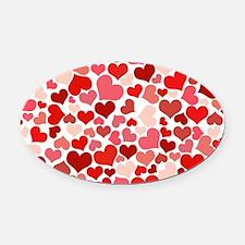 Heart 041 Oval Car Magnet