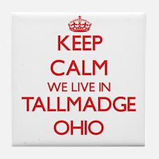 Keep calm we live in Tallmadge Ohio Tile Coaster