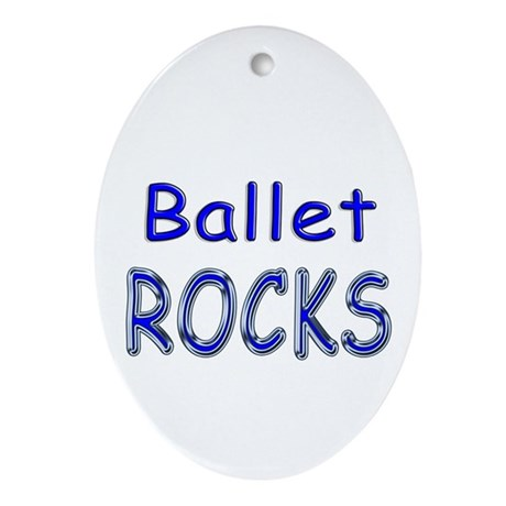 Ballet Rocks Oval Ornament