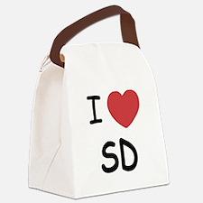 I love San Diego Canvas Lunch Bag