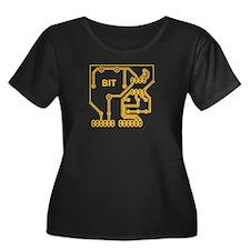 bit circuit yellow cyberpunk Plus Size T-Shirt