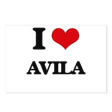 I Love Avila Postcards (Package of 8)
